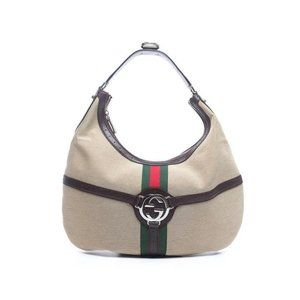 Gucci Sherry Reins Web Hobo 868009
